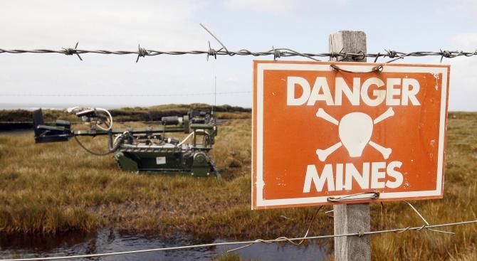 Броят на хората в света, убити от противопехотни мини, самоделни