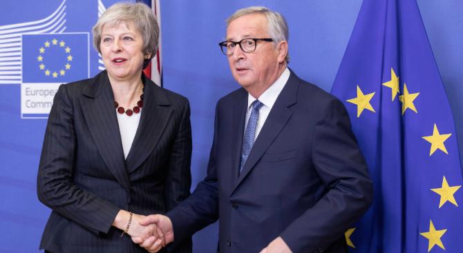 Министър-председателката Тереза Мей се срещна днес с председателя на Европейската