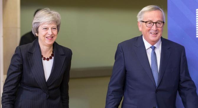 На срещата в Брюксел между британската министър-председателка Тереза Мей и