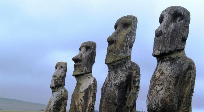 Делегация от Великденските острови, които са част от територията на