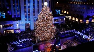 Коледната елха в Ню Йорк засия (видео)