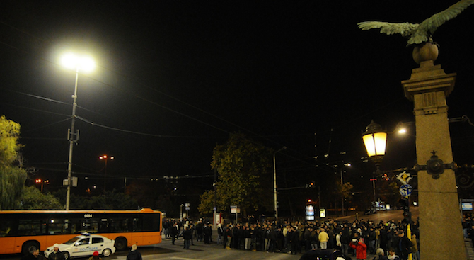 Протест на Орлов мост срещу насилието над жени