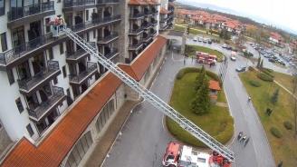 Пожаро-тактическо учение със симулация на земетресение, последвано от пожар и наводнение