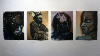 Бразилска художничка, която рисува върху шкурка гостува във Варна (снимки)