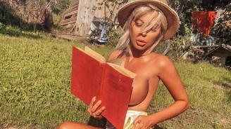 Андреа се отдаде на четенето