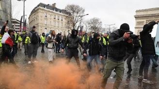 """""""Жълтите жилетки"""" блокираха пътища в цяла Франция"""