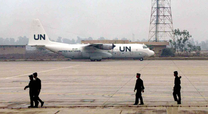 Нает от ООН самолет евакуира ранени бунтовници от Йемен
