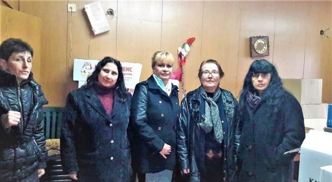 Жени ГЕРБ дариха хранителни продукти на уязвими хора в града
