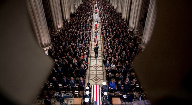 Цветан Цветанов присъства на държавната траурна церемония в памет на 41-ия президент на САЩ Джордж Х. У. Буш