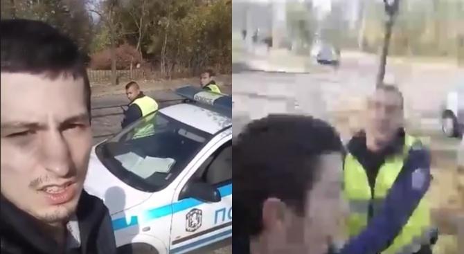 Младеж се изгаври с униформени (видео)