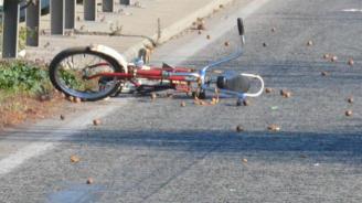 Кола помете велосипедист на пътя Сунгурларе – село Славянци