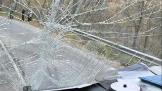 """Автобус се удари в товарен автомобил на магистрала """"Струма"""""""