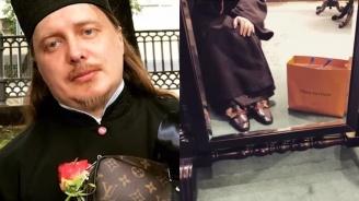 Руски свещеник профуква дарения в бутици (видео)