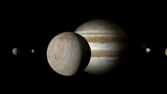 Гигантски делфин бе заснет в атмосферата на Юпитер (видео)
