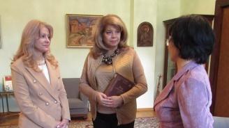 Илияна Йотова разговаря с представители на Българо-казахстанската търговска камара