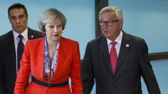 Скандал между Жан-Клод Юнкер и Тереза Мей на срещата на ЕС? (видео)