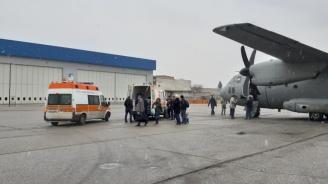 """Самолет """"Спартан"""" на ВВС транспортира медицински екип за донорска ситуация във Варна"""