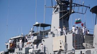 """Фрегатата """"Дръзки"""" се върна в Бургас след операция """"Морски защитник"""""""
