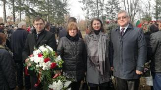От БСП почетоха паметта на шестте ястребинчета