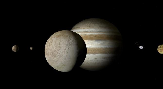 """Сондата на НАСА """"Юнона"""", който обикаля около Юпитер, е направил"""