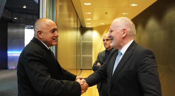 Премиерът Бойко Борисов проведе двустранна среща със заместник-председателя на Европейската