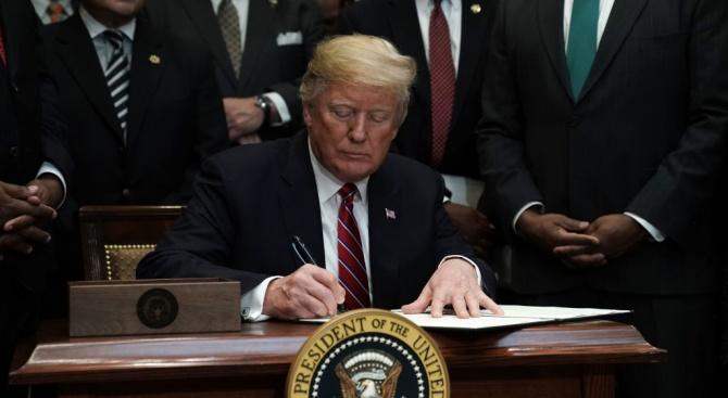 Правителството на президента на САЩ Доналд Тръмп обяви рязко пренасочване