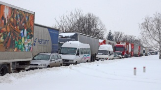 ТИР-ове бяха блокирани край Монтана