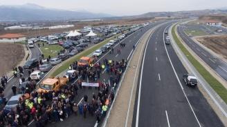 """Пуснаха за движение нови 23 километра от магистрала """"Струма"""" (снимки)"""