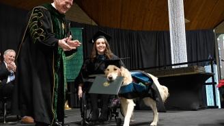 Голдън ретривър получи почетна диплома за висше образование (снимки)