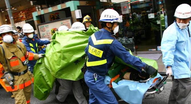 Мощната експлозия в традиционен бар в Северна Япония, при която
