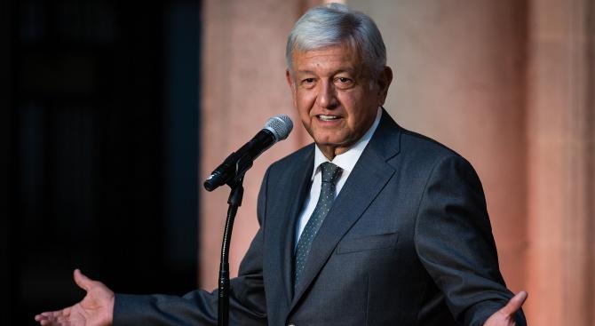 Президентът на Мексико Андрес Мануел Лопес Обрадор е намалил първата