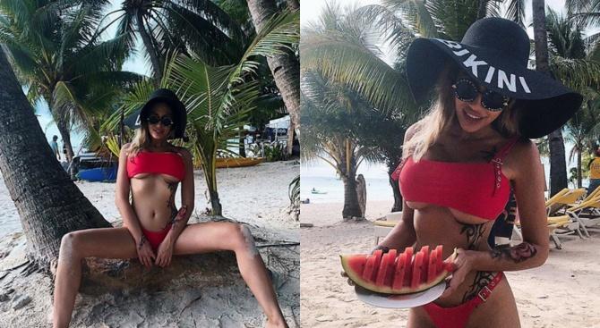 Джулиана Гани посрещна зимата на остров Боракай (снимки)