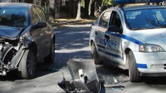 Катастрофа между патрулка и учебен автомобил в Свищов