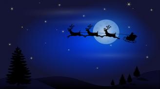 Дядо Коледа потегли от Северния полюс (видео)