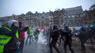 """Двама участници в протести на """"жълтите жилетки"""" бяха осъдени на година затвор"""