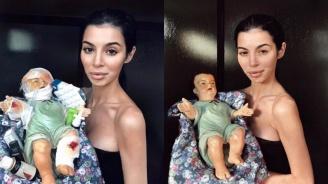 Мегз се подигра с младенеца