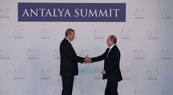 Ердоган и Путин ще се срещнат този месец в Русия