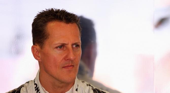 Появи се видео от камерата на каската на Шумахер при падането (видео)