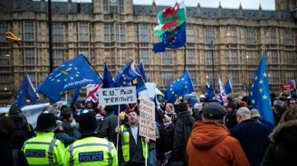 Противници и поддръжници на Брекзит с демонстрации пред британския парламент