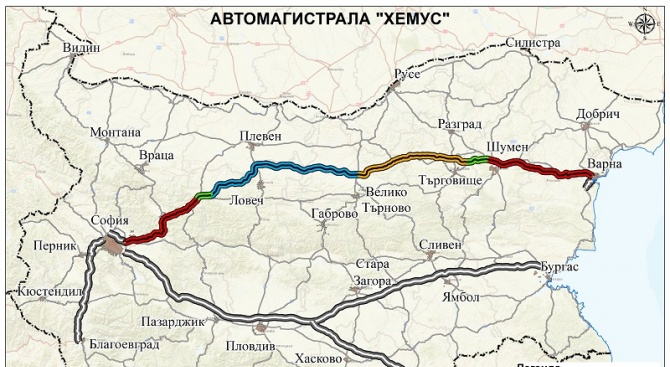 "АПИ: Държавното дружество ""Автомагистрали"" ще изгражда 134 км от магистрала ""Хемус"""