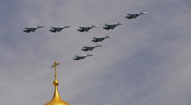 Два самолета на руските военно въздушни сили (ВВС) се удариха