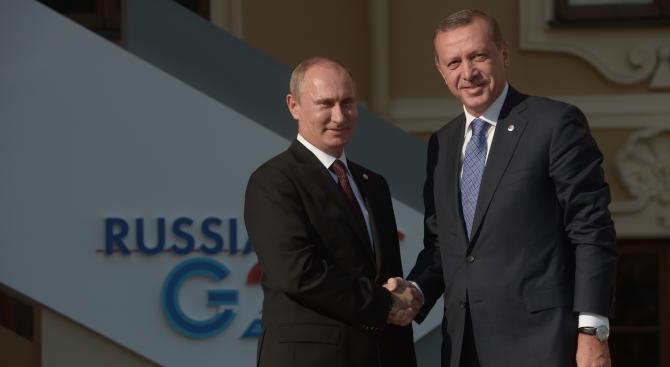 Ердоган пристига на посещение в Москва за разговори с Путин