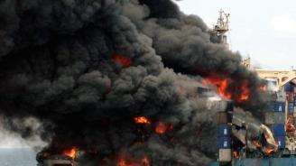 10 души загинаха при пожарна два кораба до Керченския проток