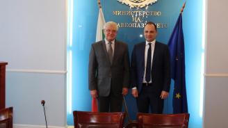 Министър Ананиев и македонският му колега подписаха План за сътрудничество