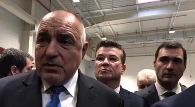 Премиерът Бойко Борисов присъства на откриването на завод за осветителни