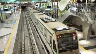 """Падна част от тавана на метростанция """"Западен парк"""" (снимка)"""