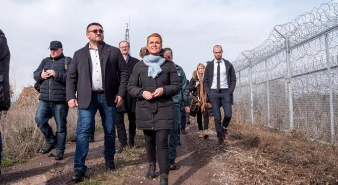 Младен Маринов и министърът на имиграцията и интеграцията на Дания посетиха ГКПП Капитан Андреево