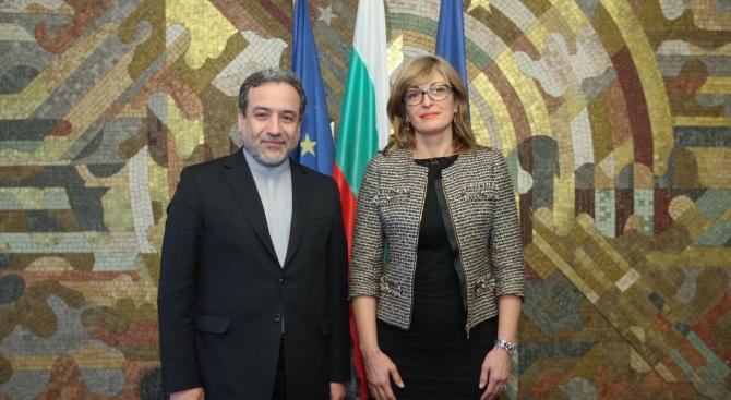 Вицепремиерът и министър на външните работи Екатерина Захариева прие днес