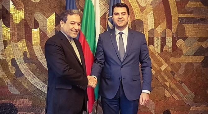 Заместник-министър Георгиев днес проведе среща с д-р Сейед Аббас Арагчи,