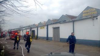 "Халета и автосервиз горяха близо до булевард ""Ботевградско шосе"" (обновена+снимки+видео)"